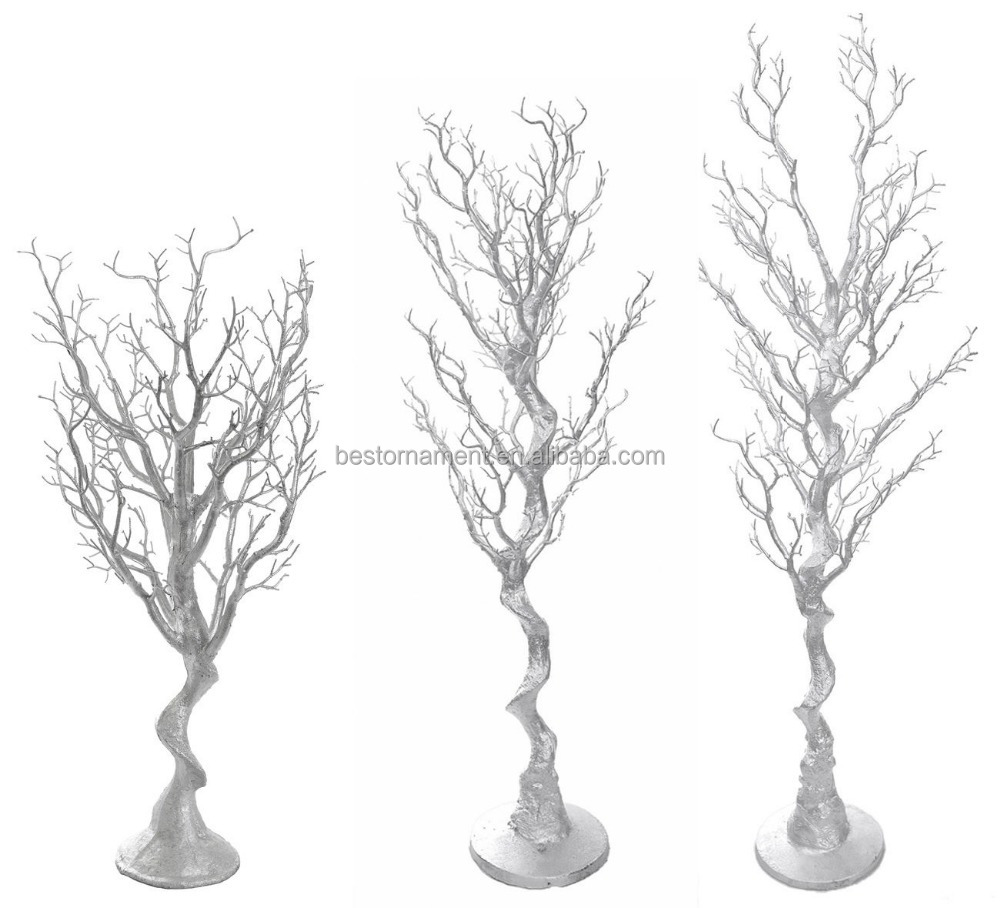 80cm 1.2m 1.8m Silver Manzanita Wedding Wishing Tree For Venue Centrepiece Decor