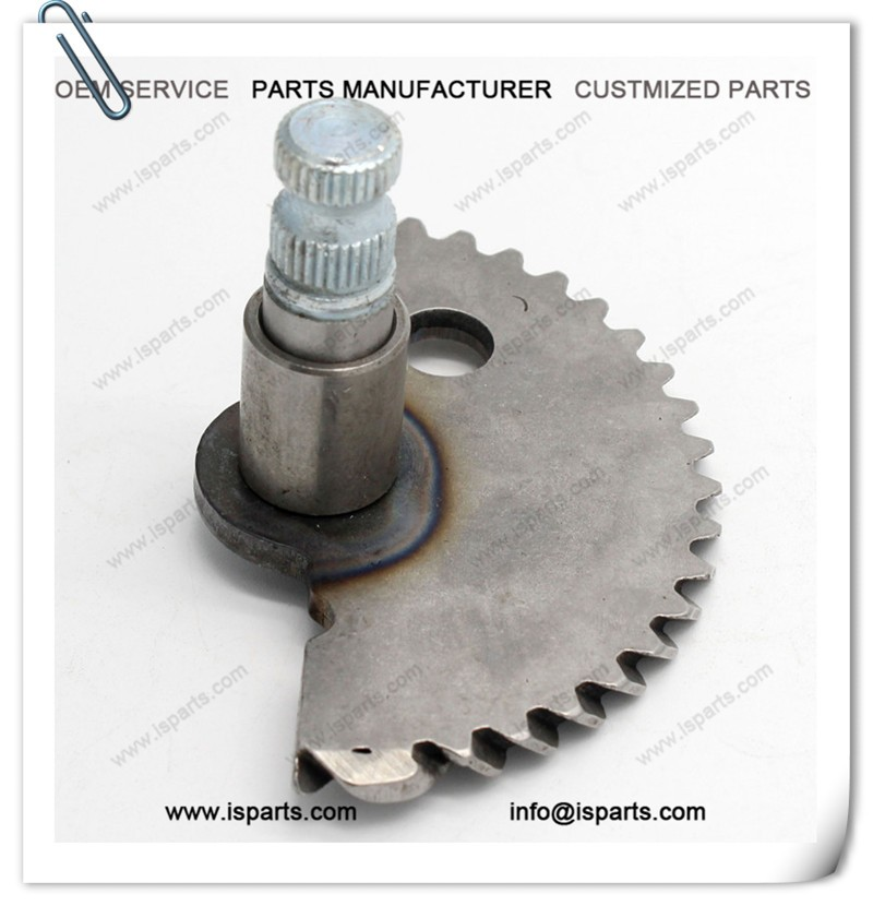 Length 55mm GY6 50cc Kick Start Shaft Gear For Scooter Moped