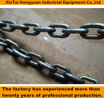 Heavy duty industrial link chain , 26mm Mine conveyor chain, Mining flight conveyer chain