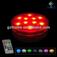 waterproof remote control aquarium fish bowl led lights