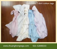 100% cotton Used T-shirt clothing wiping rags factory price