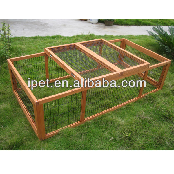 Wooden Wire Rabbit Cages Sale with run RU010