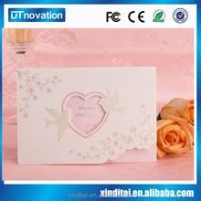 Full color printing creative handmade birthday greeting cards with hot foil