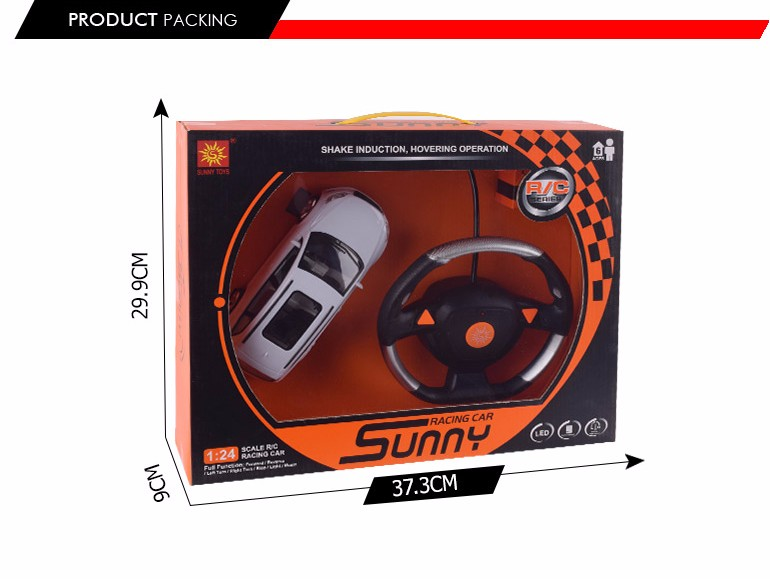 hot selling child model toy 4 channel 1:24 steering wheel remote control car for sale