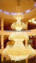 2014 K9 Five Star Hotel large candle Crystal Chandelier pendant light for hotel lobby