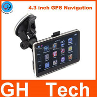 Russia Wholesale 4.3 inch GPS Car Navigation 4G memory Newest 2/ 3D Map 128MDDR FMT bluetooth and AVIN is optional free map