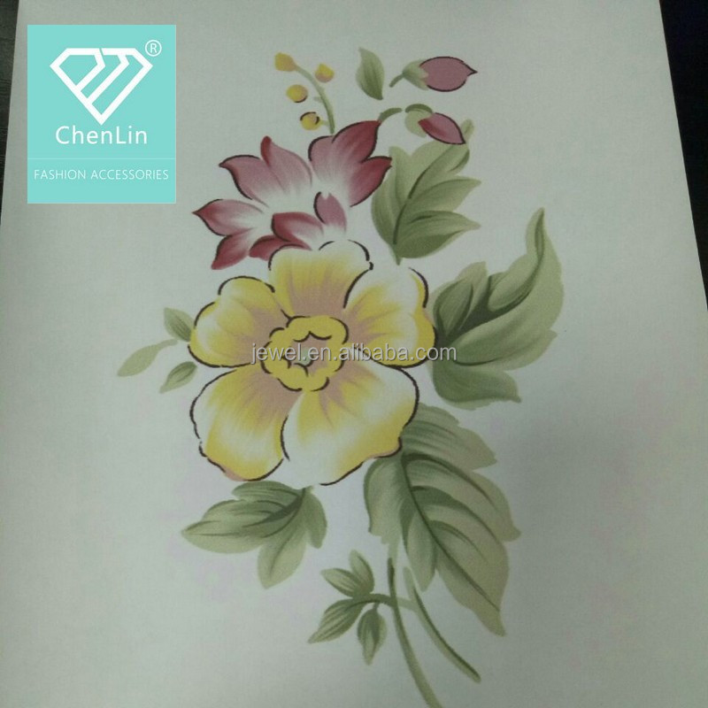 factory direct sale flower heat transfer printing paper for leather