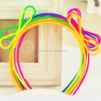 2014 wholesale kids hair accessories baby plastic headband