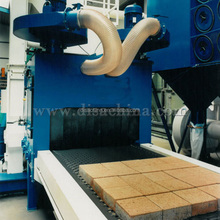 Marble Tile Concrete Block Roller Conveyor Shot Blasting Machine