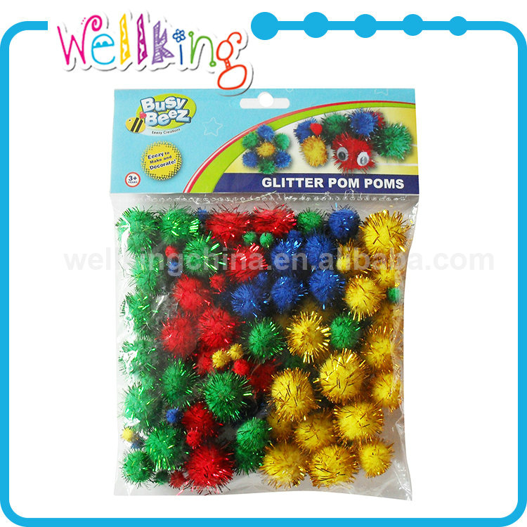 Light weight decoration craft pom poms wholesale, cheerleading pompoms
