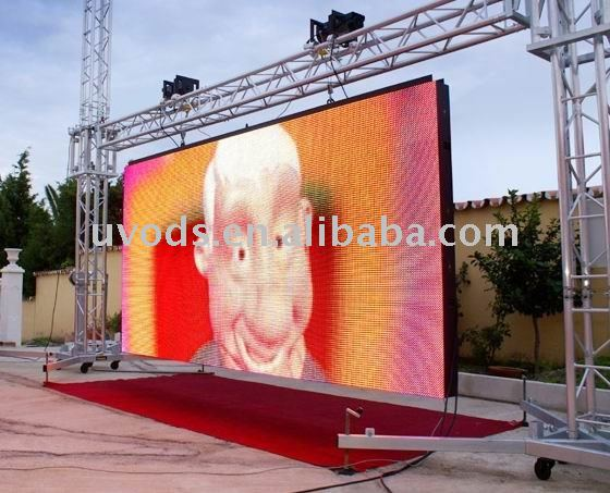 Various outdoor full color led video display wall