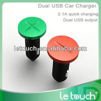 Unique Dual USB 9v 2a car charger 2.1A for iPhone/for iPad/for Samsung