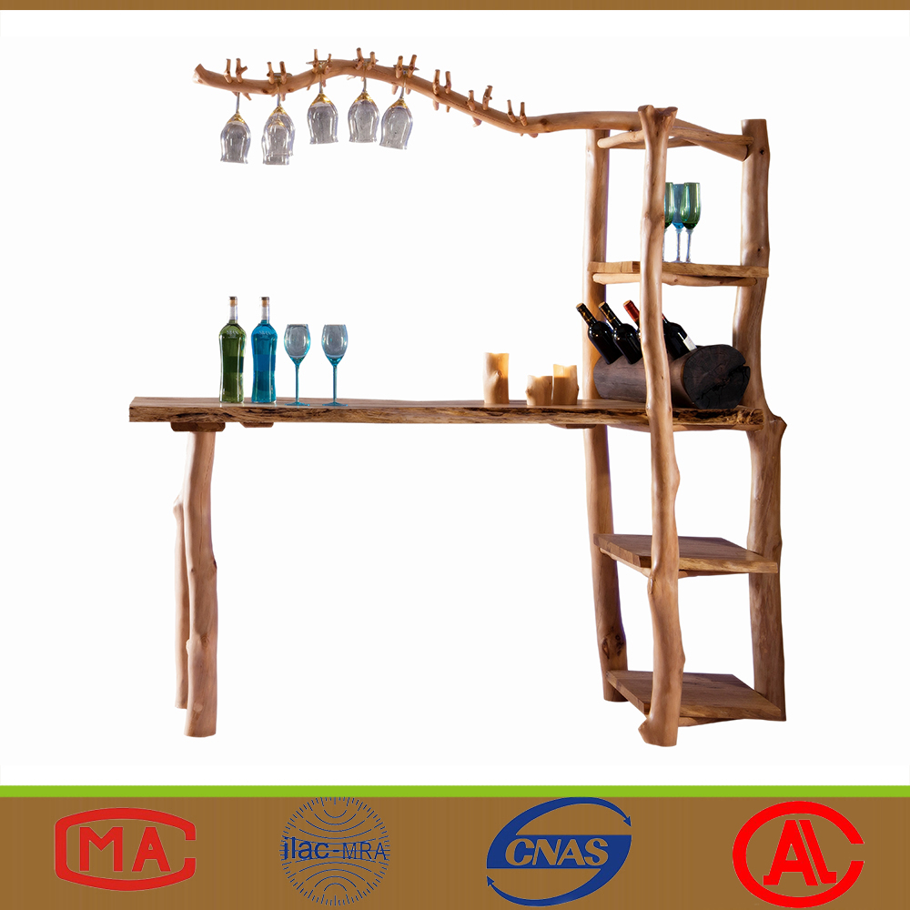 Newest Design Natual Wooden Home Restaurant Wine Long <strong>Bar</strong> Counter