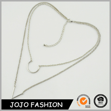 Simple design fine jewelry silver pendant necklace indian wear jewelry for party