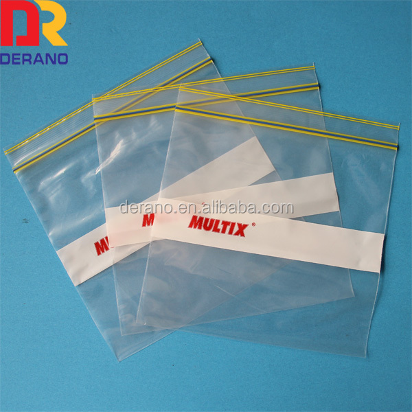 plastic packaging zip lock bag with pattern