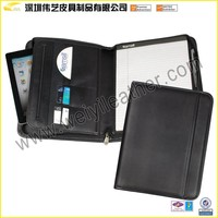 Popular Multifunction Top Quality PU File Folder customized travel document holder