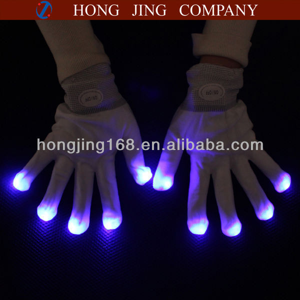 Led Finger Light Up Gloves