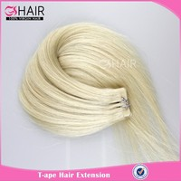 High quality wholesale blonde brazilian tape hair extensions