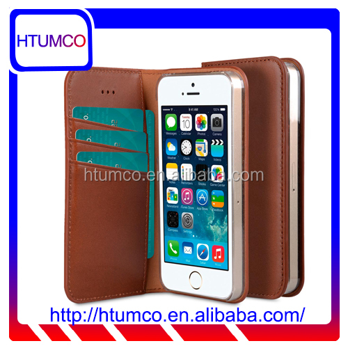 Premium Italian Leather Case Wallet Book Mobile Phone Case for Apple iPhone 5s / 5 / SE