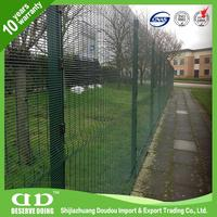 Plastic precise construction everlasting welded mesh panel anti- climb 358 high security airport fence made in China