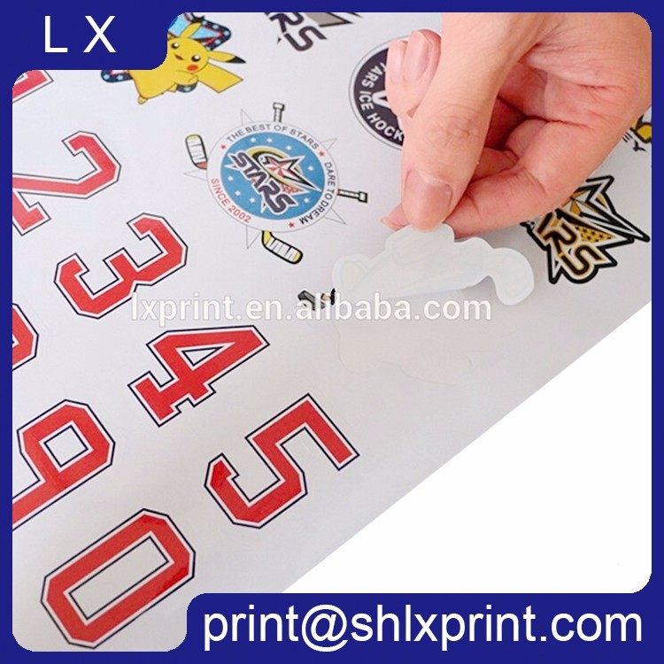Custom Printed Die Cut Adhesive Brand Name LOGO Label Sticker