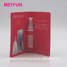 5ml Transparent Glass Perfume Vial of Fine Mist Spary Pump,Perfume Sample Bottle