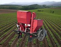 High quality garlic seeder/potato planting sowing machine/potato planter with lowest price