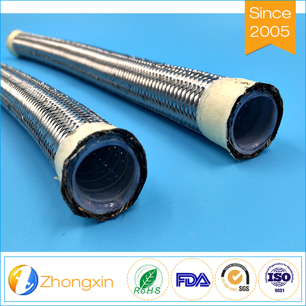 Stainless Steel Braided PTFE chemical flexible hose,PTFE convoluted hose