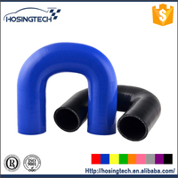 performance car part U-shaped colored 180 degree elbow silione hose