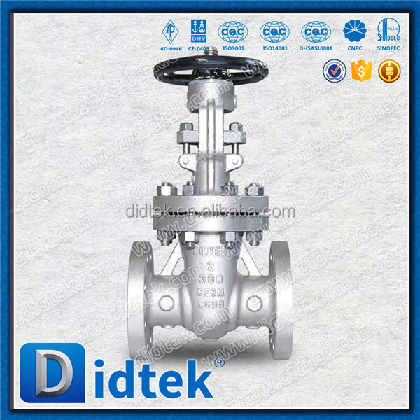 Didtek Class 300 2 inch Flexible Wedged Pressure Seal Gate Valve Stainless Steel With Handwheel