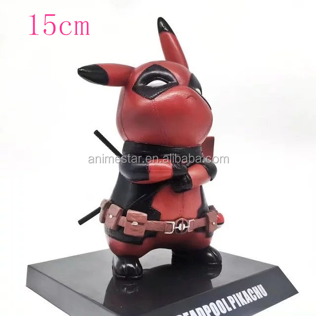 15cm New Style Wholesale Deadpool cosplay Pikachu Anime PVC Action Figure