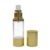 15ml 30ml 50ml gold silver cosmetic lotion airless pump bottle in stock