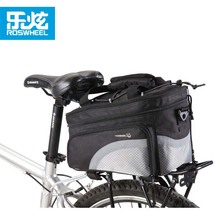 Roswheel Expandable Rear Rack Mounted 19 L Capacity Polyester Bicycle Bike Rear Rack Trunk Bag