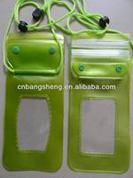 pvc cellphone waterproof drawstring bag
