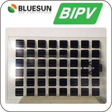 Best quality Bluesun transparent solar modules for customized bipv roofing