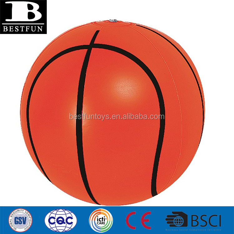 "heavy duty PVC 16"" inflatable beach basketball swimming pool floating ball air balloon toy"