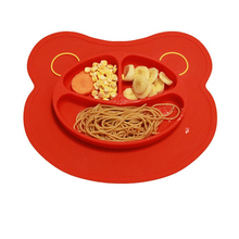 FDA approval Soft Silicone suction cup Baby Feeding Placemat Plate kid suction bowl for tableware Set