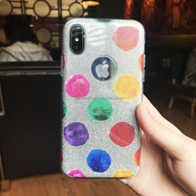 3 IN 1 Glitter Layer Phone Case For IphoneX Shiny Color Printing Mobile Phone Accessory