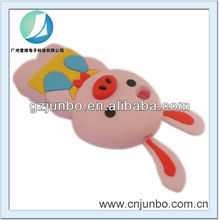 3D cute animal pig silicon case for iphone 5 with big ear