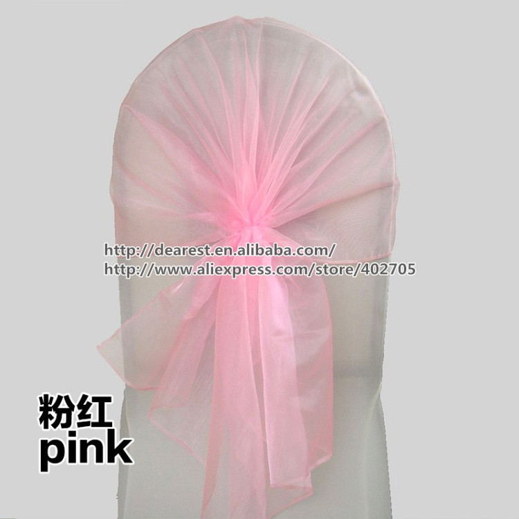 free shipping 65*150CM organza chair sash ,wedding chair band