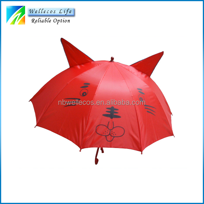 cheap price custom different animal pattern umbrella decoration for kids