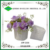 Decorate wedding flower girl basket white wedding baskets