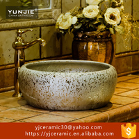 vanity design silver table top bathroom ceramic sink