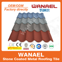 Wanael high quality guangzhou construction materials/roof panel/stone chips coated steel tile