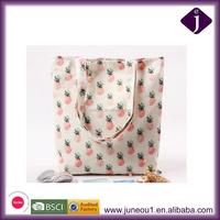 Large Capacity Printing Shoulder Bag Cute Canvas Tote Bag Girls Handle Bag