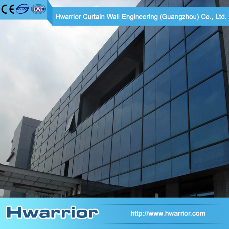 Hwarrior Wide Selection Low-E Glass Egineering Exposed Frame Curtain Wall