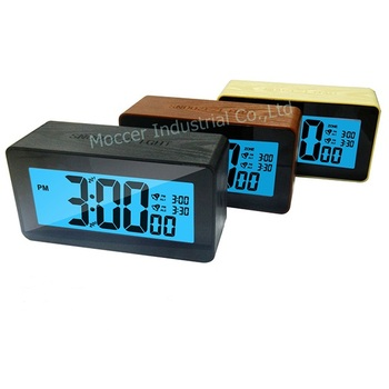 2014 newest Wooden large screen digital clocks with double alarms