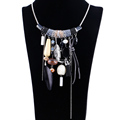 Vintage design statement tassel alloy necklace for women accessories