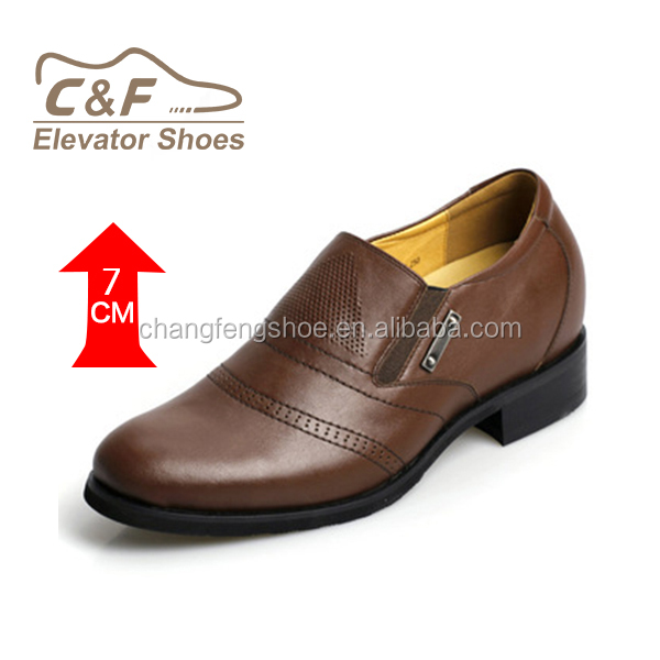 hidden heel shoes for men with high quality