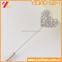 High quality Crystal Lapel Pins,Fashion Business Gift Custom Shape Metal Pins have Needle with Cluth